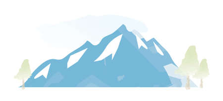Watercolour Mountains Landscape vector illustration