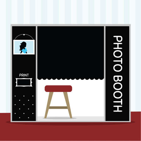 Photo Booth vector ilustration