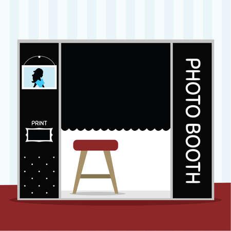 Photo Booth-Vektorillustration Vektorgrafik