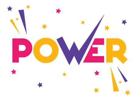 Power Text vector ilustration