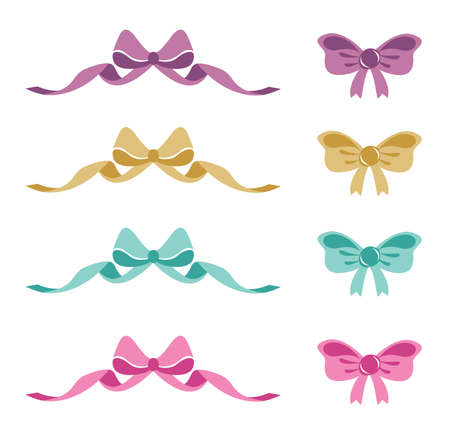 Ribbons and Bows vector ilustration