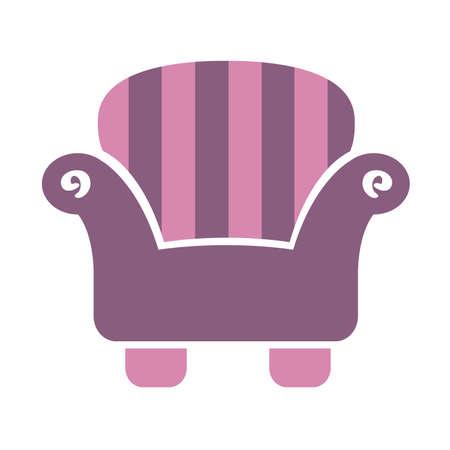Striped Sofa Chair icon
