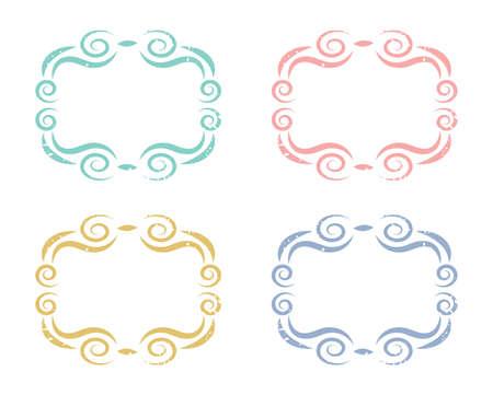Curly Swirl Frames set