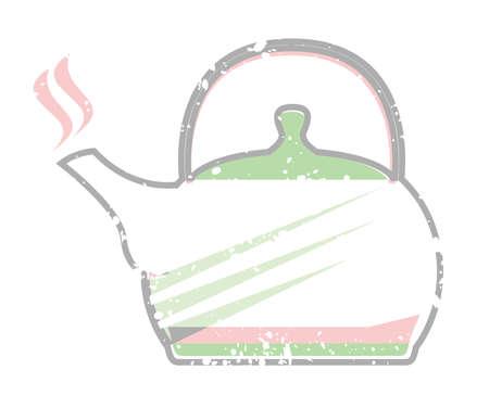 Steaming Tea Kettle vector illustration