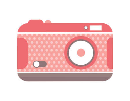 Vintage Polka Dot Camera vector illustration