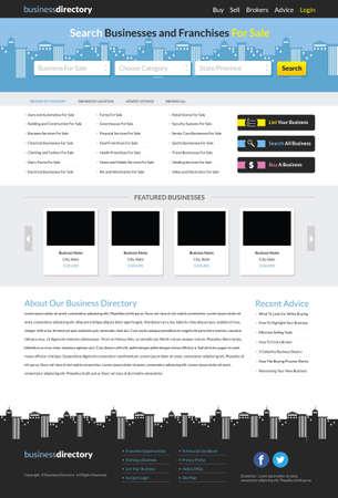 Business Directory Website Template vector illustration
