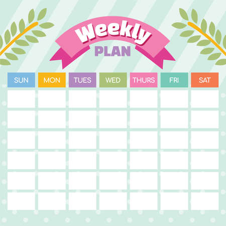 Weekly and Daily Planner vector illustration