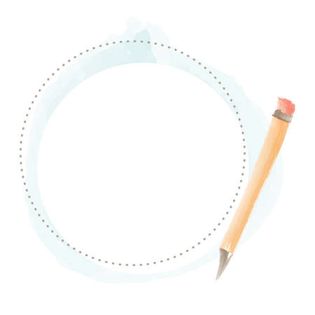 Writing Pencil Border vector illustration