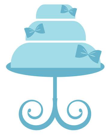 Blue Cake Stand vector illustration Illustration