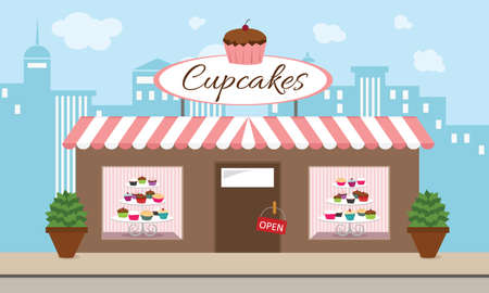Cupcake Bakery vector illustration