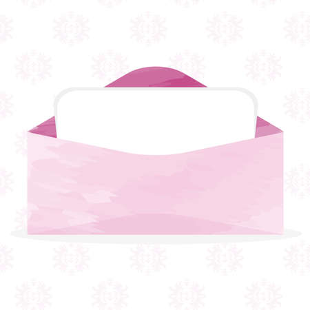 Open Envelope with Paper vector illustration