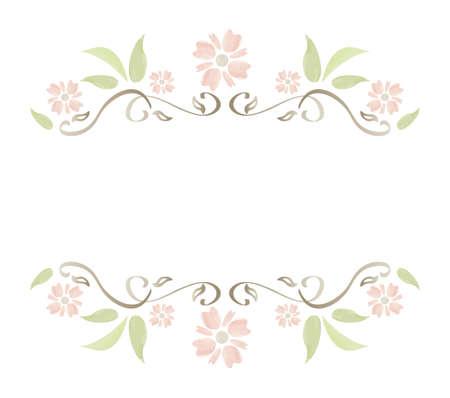 Floral Watercolour Frame