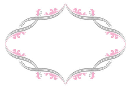 Flourish Border with Pink Leaves
