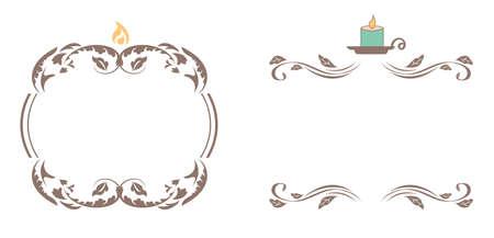 Elegant Candle Frames Ilustração