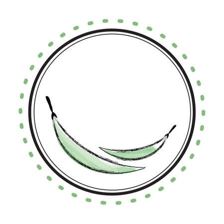 Green Beans Circle Frame