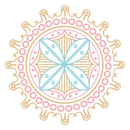 Henna Emblem design template Illustration