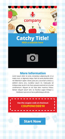 Email Newsletter for Restaurants and Food Industry Illustration