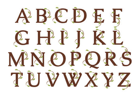 Alphabet Ivy Wood Letters