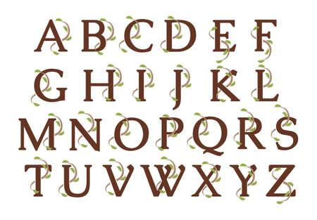 Alphabet Ivy Wood Letters