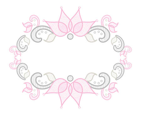 Floral Lace Border Frame with Flourishes