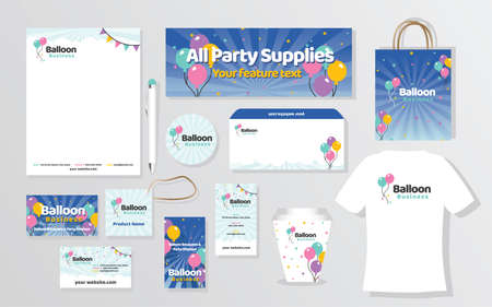 Branding Package Identity Set for Balloons Party Business