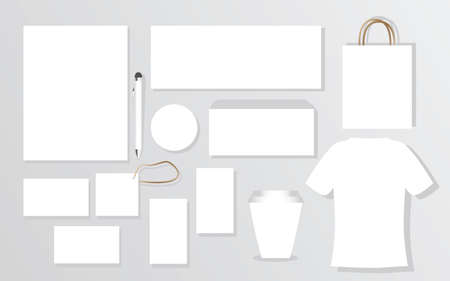 Blank Branding Package Identity Set