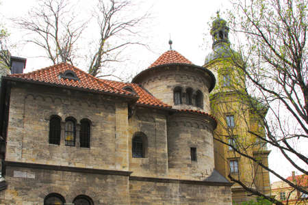 Old Jewish Synagogue in the Jewish Quarter of Prague photo
