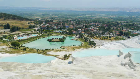 pamuk: Pamukkale travertines near Denizli in Turkey, 2013 summer