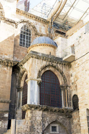 sepulchre: Temple of the Holy Sepulchre in Jerusalem, Israel, Summer 2013 Stock Photo