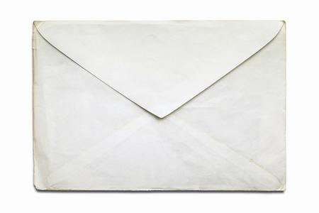Old envelope, isolated on white background