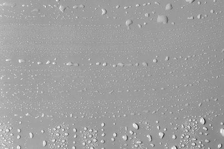 Surface with water drops, grey background Banco de Imagens - 98787930