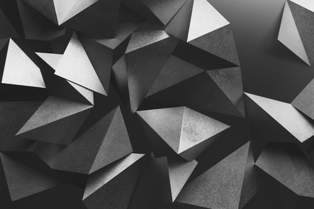 Abstract composition with geometric shapes of paper, three-dimensional effect Stock Photo - 103480006