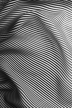 Elegant black and white silk with stripes, abstract background
