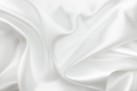 Elegant white satin silk with waves, abstract background Stock fotó