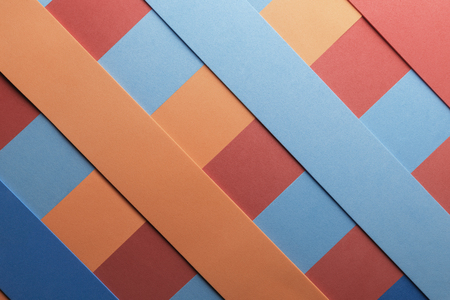 Geometric composition with colored elements for abstract background, 3d illustration Stock Photo