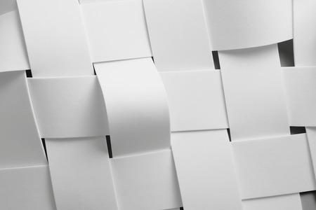 Close-up of intertwined white elements for abstract background