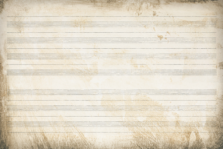 Sheet music, old paper striped and aged, texture background