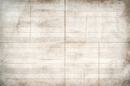 Old sheet music without notes, background