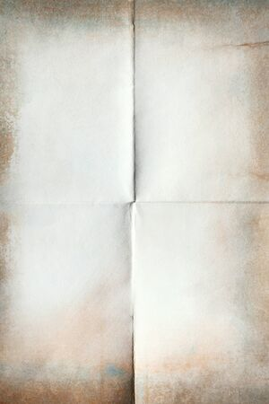 Close-up of old paper folded in four texture background Stock fotó