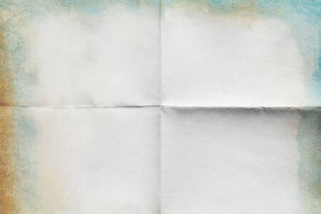 Close-up of old paper folded in four texture background Reklamní fotografie