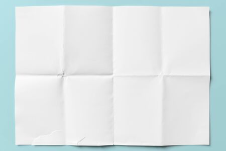 Close-up of empty paper folded in eight, texture background Stock fotó