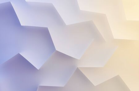 Shapes and lines in colorful background, abstract 3d illustration