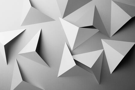 Abstract pattern made of paper, triangular shapes