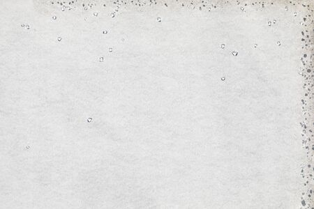 Blank paper with water drops, texture background