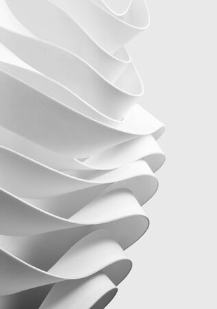 Structure made from white elements, abstract background, 3d illustration Zdjęcie Seryjne
