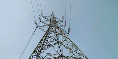 A picture of high voltage electric tower Stok Fotoğraf