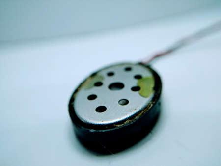 Mobile speaker isolated on white background