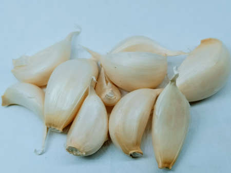 A picture of garlic isolated on white background Stok Fotoğraf