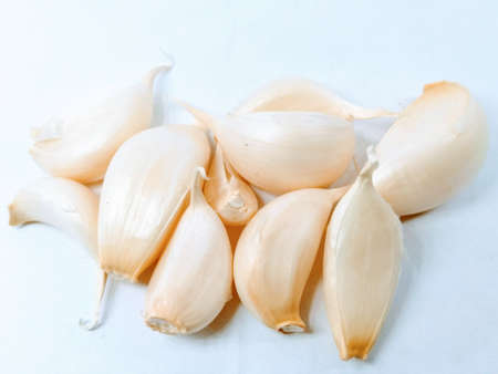 A picture of garlic on white background Stok Fotoğraf