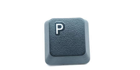 A picture of keyboard key isolated on white background